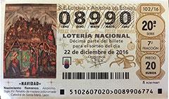 Lotería Navidad 2016