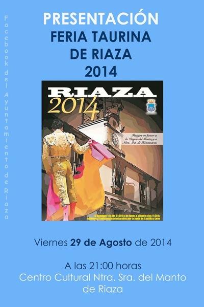 Presentaci�n Feria Taurina de Riaza 2014
