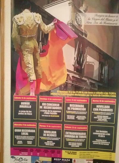 Ya tenemos los carteles de la Feria Taurina de Riaza 2014