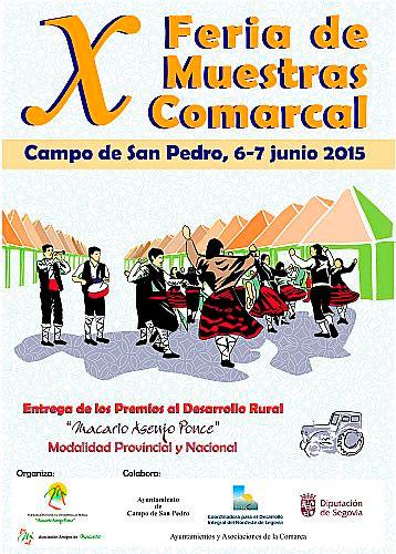 X Feria de Muestras Comarcal, Campo de San Pedro 6 y 7 de junio de 2015