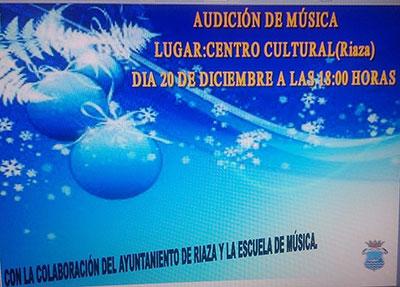 Audici�n Escuela de M�sica<br>`Riaza, al comp�s�