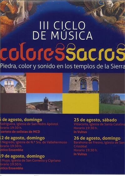 III Ciclo de Música<br>Colores Sacros