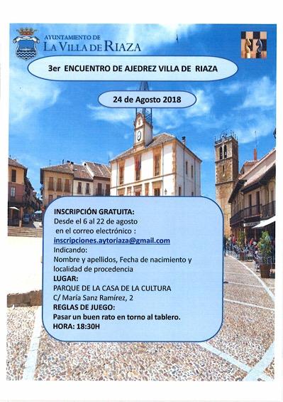 3er Encuentro de Ajedrez Villa de Riaza